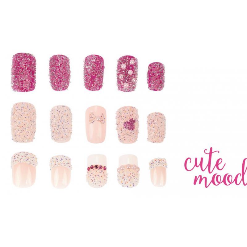 Swarovski Crystal Pixie Cute Mood nails design, decoration, wholesale