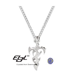 Necklace Flame Cross