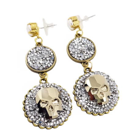Candy Skull Earrings by ELL Jewels