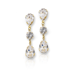 Earrings Crystal Rain Drop